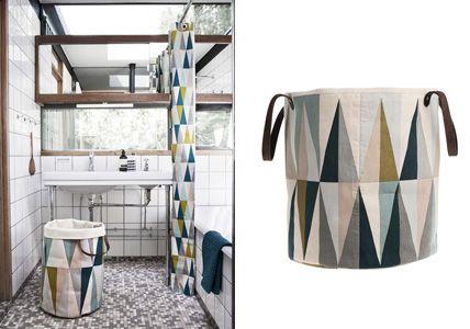 Wäschekorb von Ferm Living - Frühling im Bad: farbenfrohe Accessoires fürs Badezimmer 9