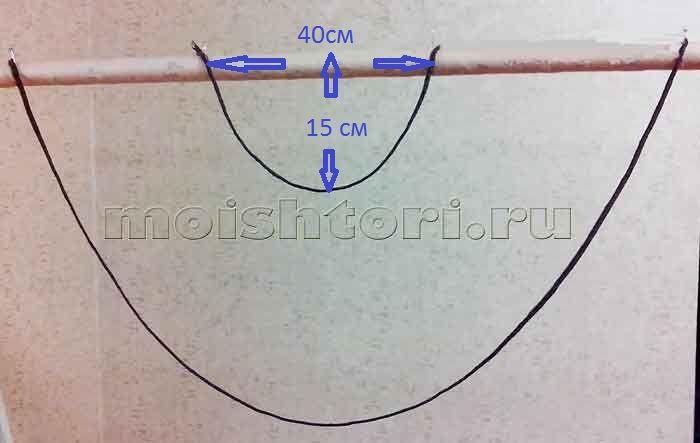 Выкройка равностороннего перекида, как построить | ШТОРЫ СВОИМИ РУКАМИ