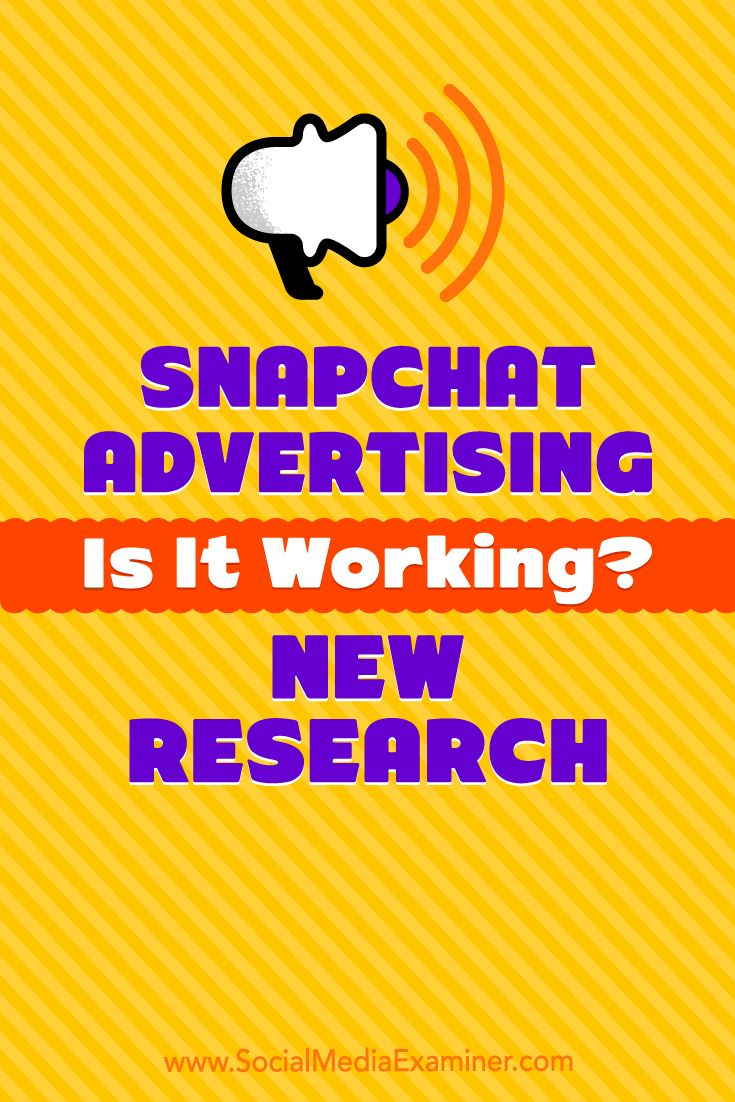 Thinking of advertising on Snapchat?  Wondering if others are finding Snapchat ads effective?  In this article, you'll discover new research that sheds light on whether advertising on Snapchat is worthwhile for businesses.