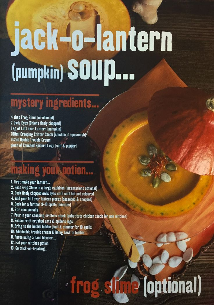 124 best halloween images on pinterest costumes halloween pumpkin soup recipe exclusive from our halloween catalogue forumfinder Images