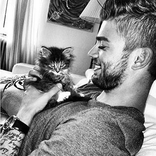 Hot Guy with Cat
