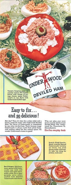 Underwood Deviled Ham - doesn't help that it looks like something my dog has thrown up.