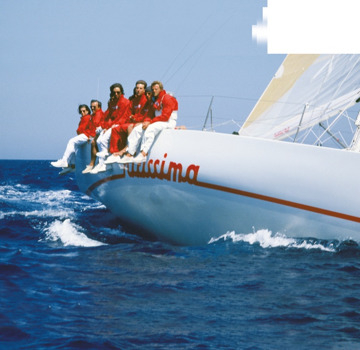 """""""Nitissima"""" owned by Mazzaferro, was top boat in Sardinia Cup in 1984 with a young Paul Cayard, his debut as helmsman on an Italian boat, however as part of the Irish team."""