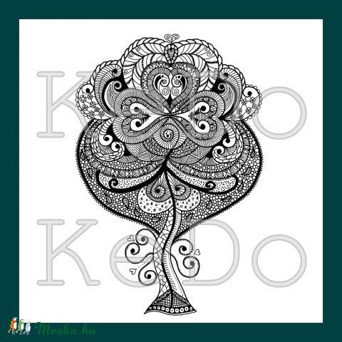 Meska - ZENdülő fa - nyomtatható színező kedo kézművestől