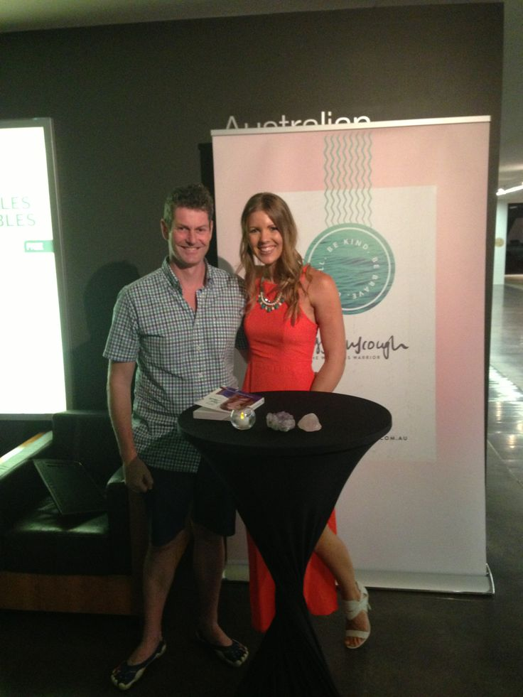 Jess Ainscough as the key note speaker at the Wellness Warrior event at Brisbane Jan 2014. Such an inspiration - your Mum would be proud. Health Celebrities with Cameron Corish.