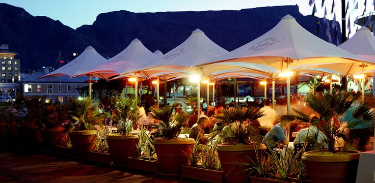 No place like restaurant 'Belthazar' overlooking the Cape Town Waterfront