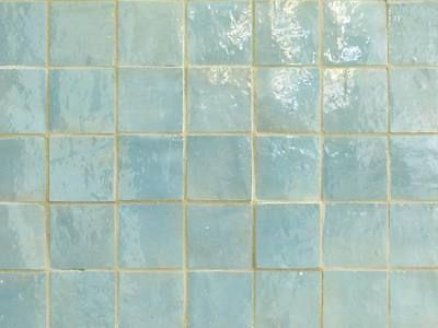 (99,95 €/m²) Glas. Handform-Fliesen aus Marokko 10x10 Wandfliesen blau glasiert