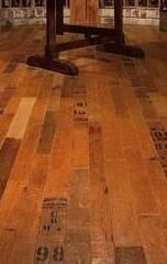 Wine Barrel Flooring - Blue Grouse Wine Cellar