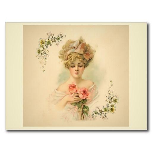 Victorian Parlour_Flora Postcard #Victorian #vintage from Zazzle