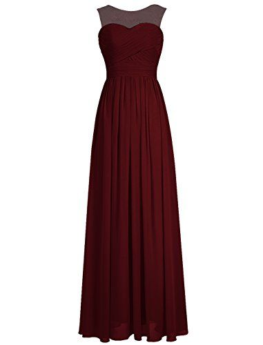 Tideclothes Long Chiffon Scoop Lace Bridesmaid Prom Evening Dress Burgundy US2 Tideclothes http://www.amazon.com/dp/B017N740NK/ref=cm_sw_r_pi_dp_-4ULwb0YF8DY6