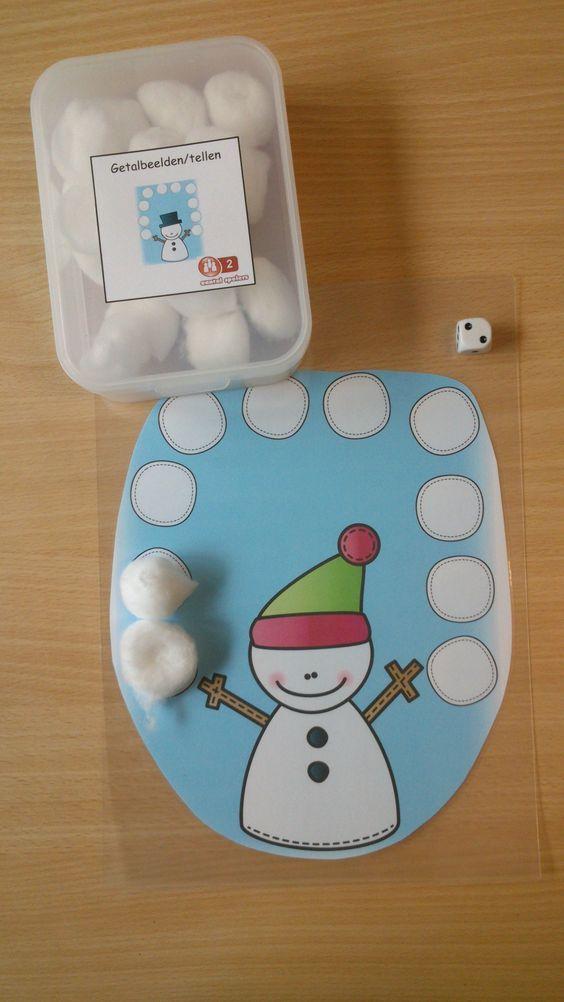 Wie heeft als eerste alle sneeuwballen bij elkaar gegooid met de dobbelsteen?