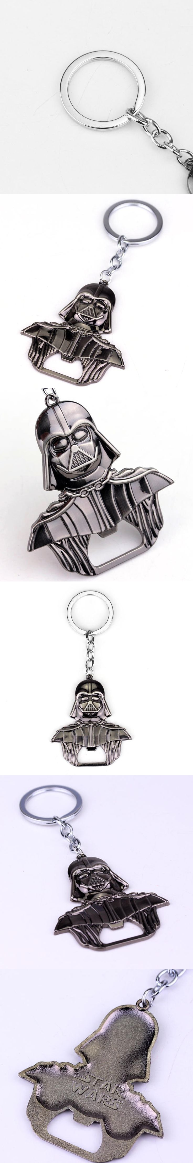 New style star wars darth vader keychain bottle opener keyring Alloy metal figure black series key chain ring porte clef for fan