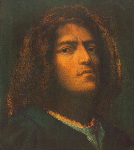 Autoritratto Autore:Giorgione Data:1510 Dove:Szepmuveszeti Muzeum,Budapest