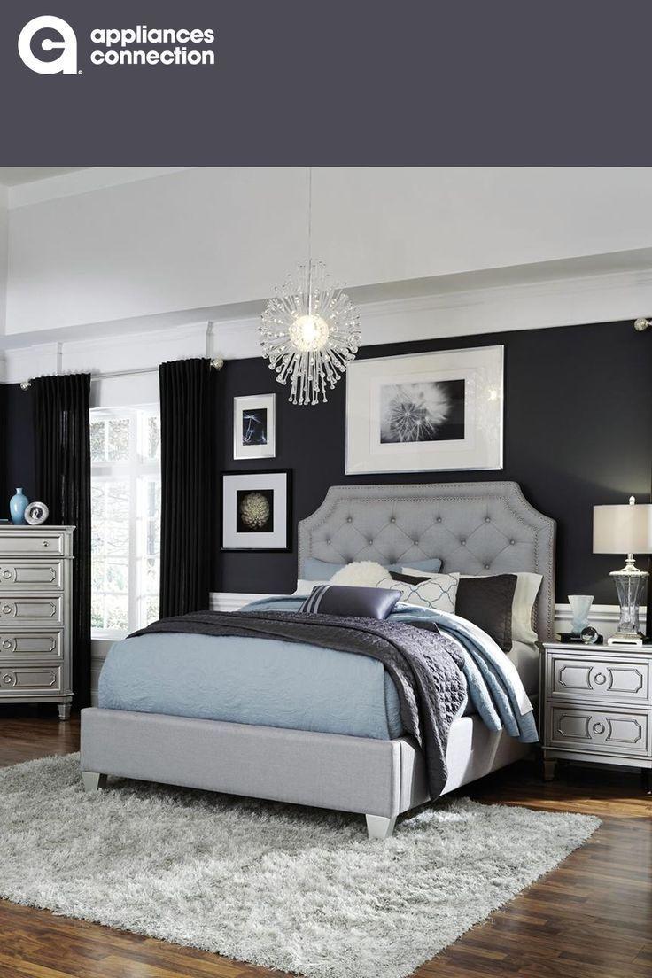 Purple Black Silver And Light Blue Bedroom Design Windsor