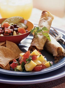 Vegetarian Taquitos (would sub black beans for yves)