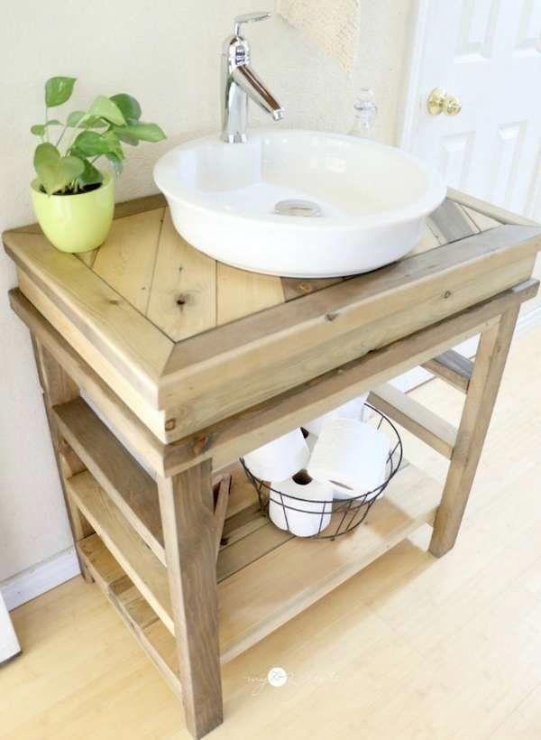 Diy Simple Vanity Bathroom Vanity Ideas Bathroomvanity Diy Bathroom Vanity