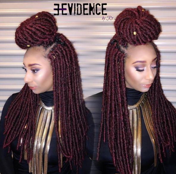 Crochet Braids Faux Locs : FAUX LOCS SOUL Coloured Crochet Locs made with the new BOMBA FAUX LOCS ...