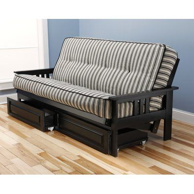 Etta Futon and Mattress Frame Finish: Black - http://delanico.com/futons/etta-futon-and-mattress-frame-finish-black-697875034/
