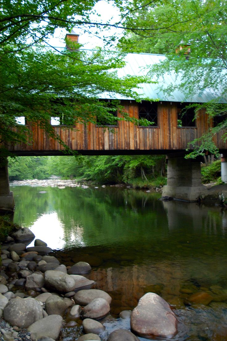 Old covered bridge you'll find in the Smokies
