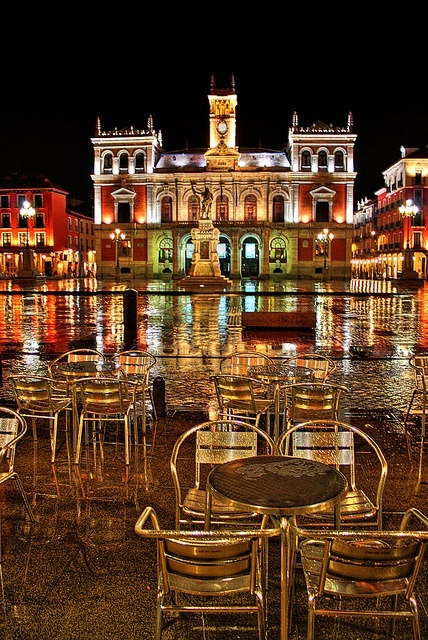 Plaza Mayor de Valladolid, Spain The Plaza Mayor is a central plaza in the city of Valladolid, Spain. It is located only a few blocks away from another famous plaza, the Plaza Zorrilla.