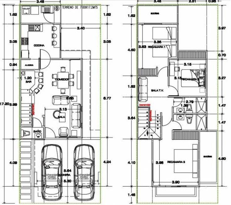 planos de casas modernas de dos pisos peque as hermosa