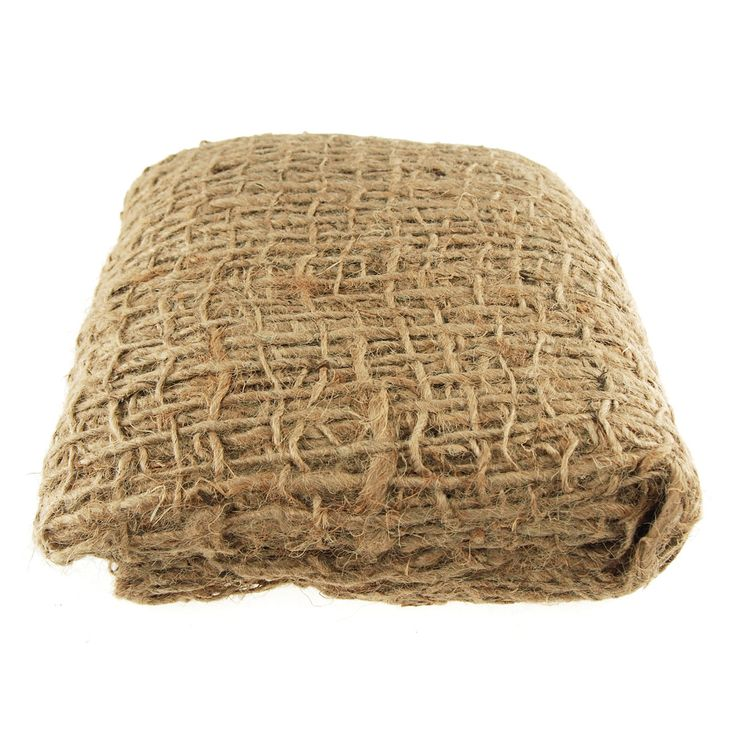 Burlap mesh erosion control cloth s a coarse biodegradable jute fabric and is used to prevent land erosion and for slope stabilization. Geo jute offers a high degree of soil retention, before biodegra