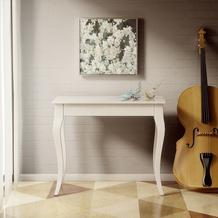 Consolle+allungabile+Olanda+in+legno+Bianco+o+Noce+fino+a+3+metri