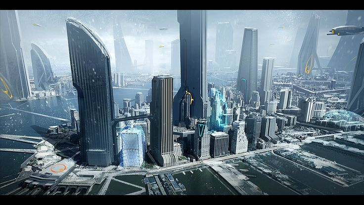 Star Citizen New York, Josh Kao on ArtStation at https://www.artstation.com/artwork/star-citizen-new-york