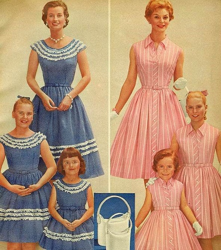 Like mother, like daughters, by Sears 1959