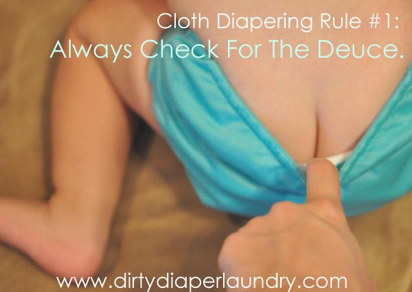 Cloth diaper changing
