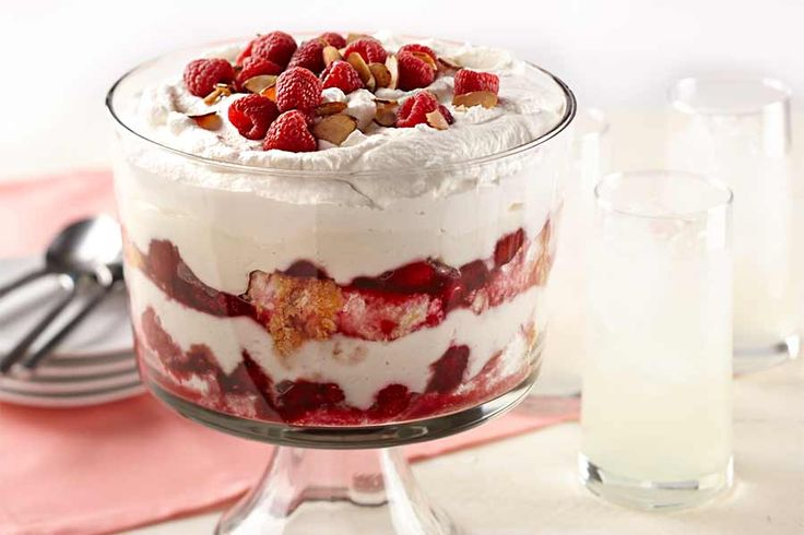 AE French Vanilla Bean yogurt makes a great swap for the traditional custard used to make any trifle and pairs perfectly with the raspberries and light cake. We love this simple and decadent dessert and we think you will too!