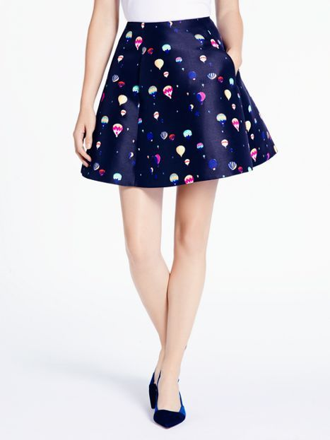 hot air balloon print party skirt by kate spade.
