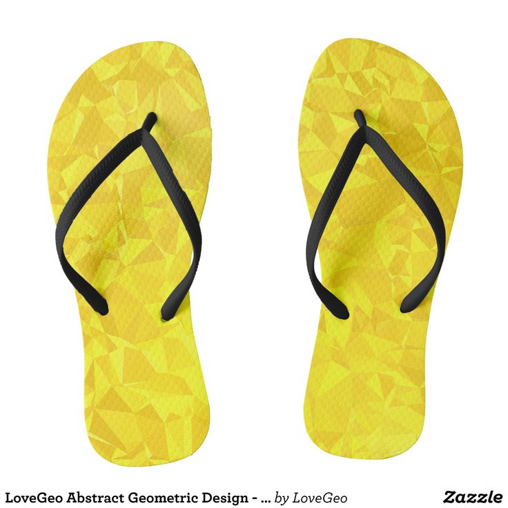 LoveGeo Abstract Geometric Design - Merigold Champ Flip Flops - Durable Thong Style Hawaiian Beach Sandals By Talented Fashion & Graphic Designers - #sandals #flipflops #hawaii #beach #hawaiian #footwear #mensfashion #apparel #shopping #bargain #sale #outfit #stylish #cool #graphicdesign #trendy #fashion #design #fashiondesign #designer #fashiondesigner #style