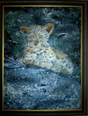 Leopard Cub in oil