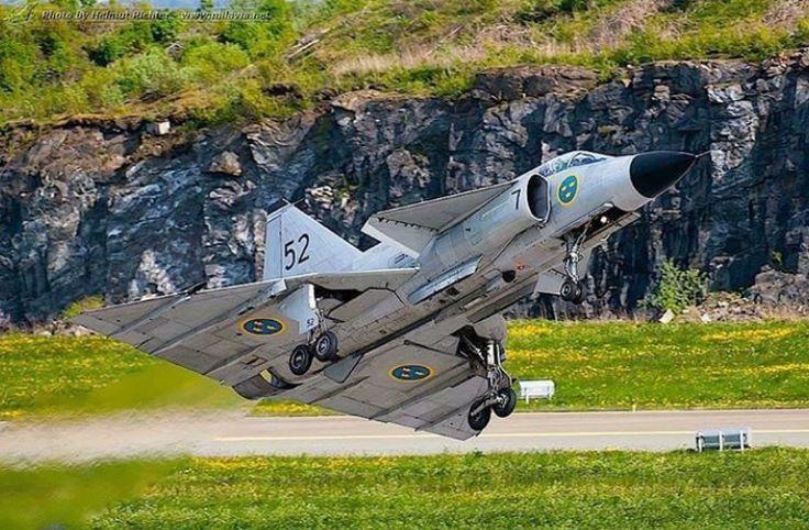 Swedish Air Force Saab J-37 Viggen.