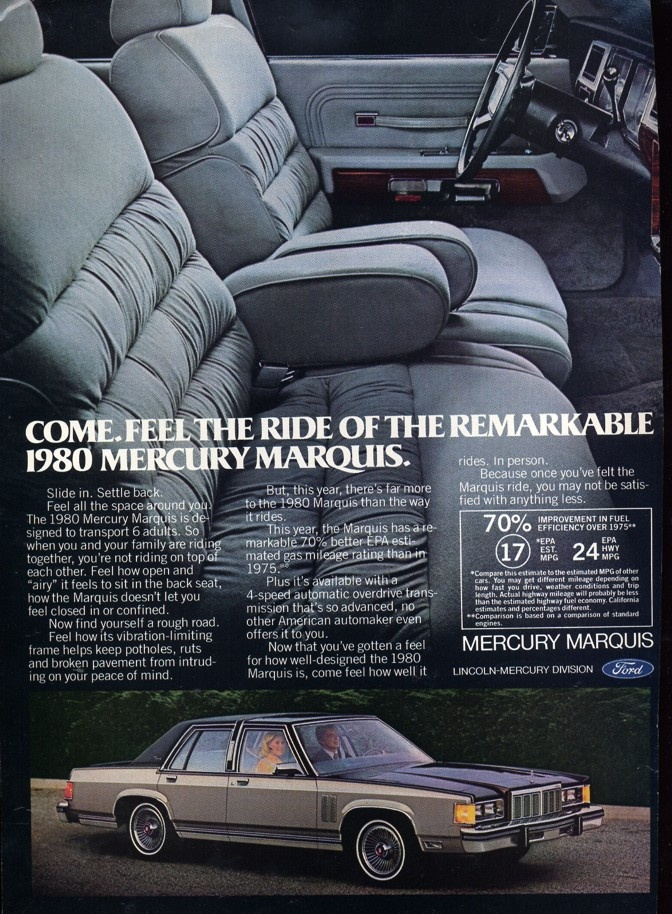 1980 Mercury Marquis Four Door Sedan