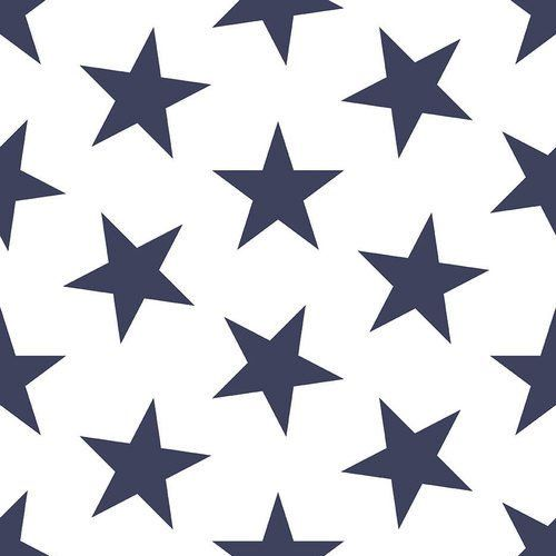 Sissy & Marley Wallpaper Lucy Stars in Navy & White