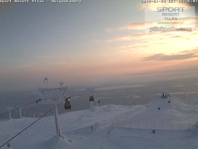Webcam Ylläs fell from the top