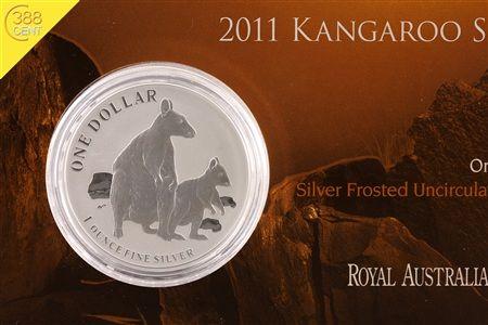 Australien Kangaroo Allied Rock Wallaby 2011 1 Unze oz Silber | eBay