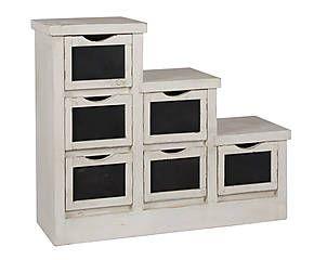 Mueble de escalera en madera de mango blanco y negro for Muebles blanco y negro