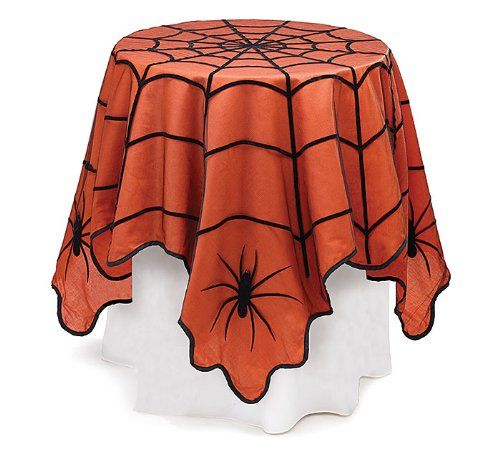 Spider Web Tablecloth Decoration - 20 Interesting Halloween Decorations To Buy For Your Home