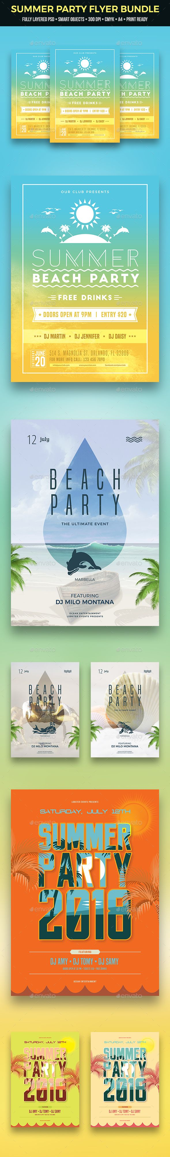 Best Awesome Summer Party Flyers Images On