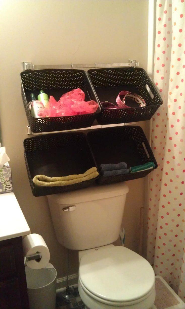 Top 10 DIY Bathroom Storage Solutions 16