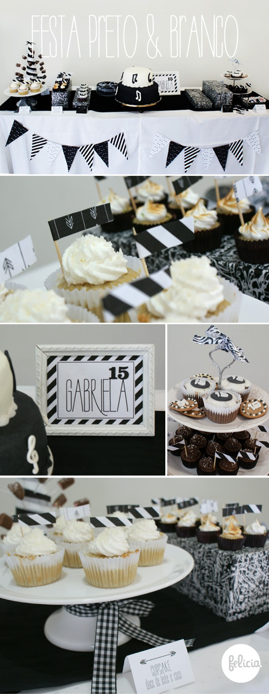 Black and white party- wrap boxes with paper to add to decor