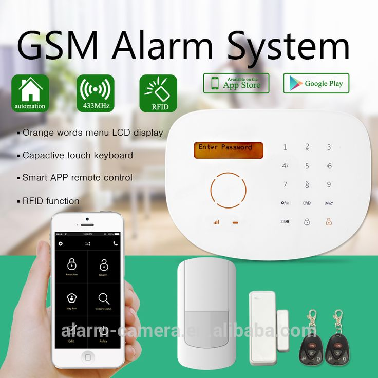 Wireless GSM security alarm system with CE+FCC+ROSH certification and Google play store+apple store APP