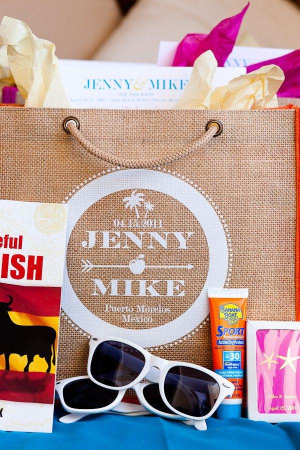 Destination Wedding Gift Bag Ideas: 15 Best Beach Wedding Welcome Bag Ideas Images On