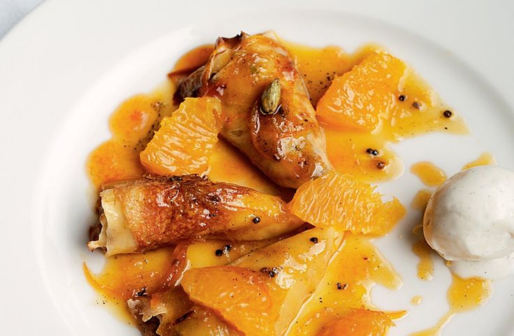 Recipes by Bruno Loubet | FOUR Magazine. Crepes suzette with a touch of cardamom & recipe for Beef cheeks (not pictured)