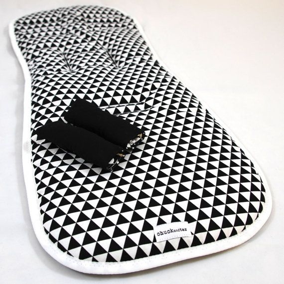 Universal Pram Liner / Stroller Liner Black White by chuckandtaz