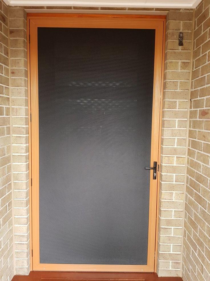 Aluminum mesh front door
