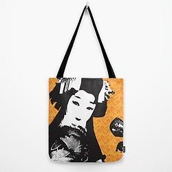 Poplin Tote / 'Geisha with Kites' design profile